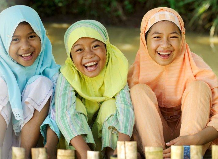 happy 3 kids