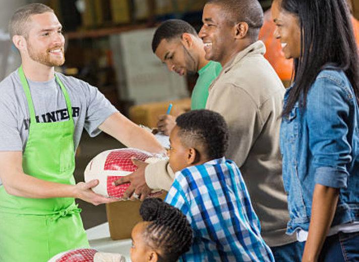giving relief goods