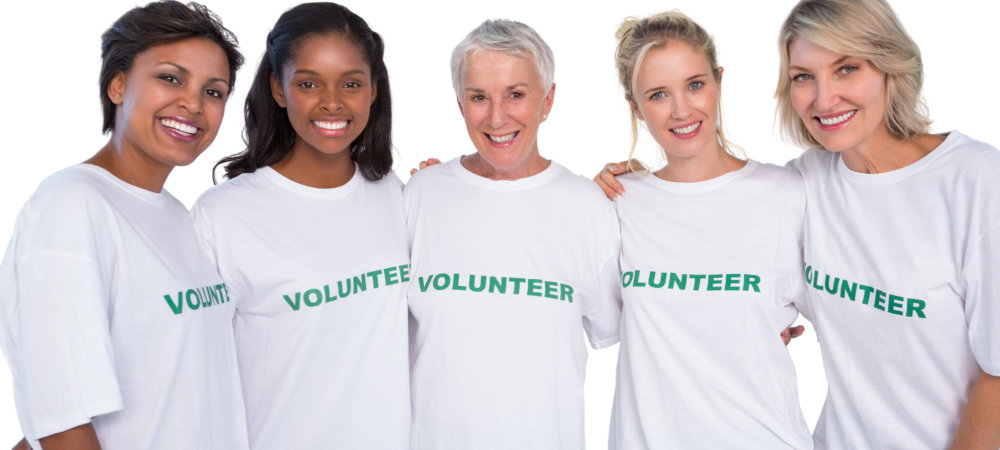 five female volunteers