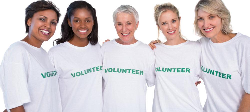 five female volunteers